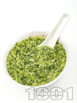 Домашен сос Песто Дженовезе за спагети и паста - оригинална класическа рецепта - снимка на рецептата
